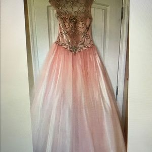 Mac Duggal Cap Sleeve Bridal Prom Dress. Size 8